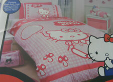 New HELLO KITTY It's a Wonderful Day Mushrooms Single Quilt  Doona Cover Set