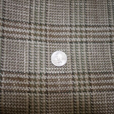"Vintage Mid Century Cotton Blend Glen Plaid Woven Upholstery Fabric 60""x146"" 4yd"