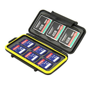 JJC MC-SD6CF3 Rugged Waterproof Memory Card Case For 3x CF / 6x SD Cards Black