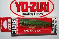"yo zuri 3db 3d prism wave motion popper bass topwater 3"" 3/8oz frog r1101-pf"