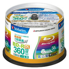50 Verbatim Bluray Disc 50GB BD-R DL 4X Speed Made in Japan Blu-Ray Printable