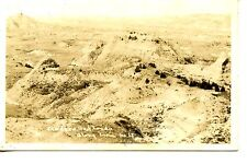 Medora Badlands Aerial Scenic View-South Dakota-RPPC-Vintage Real Photo Postcard