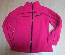 """""""PUMA"""" Girl's Sport Life Style Long Sleeve Jacket Hot Pink Black Accents Size 5"""