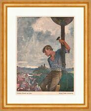 Zwischen Himmel und Erde Jugendstil von Richard Pfeiffer Königsberg Jugend 1036