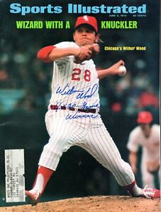 Wilbur Wood Autographed June 4, 1973 Sports Illustrated W/ 4X 20 Game Winner Ins