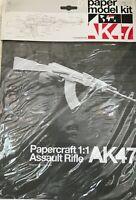 Paper Model Kit - Size 1:1 - Assault Rifle AK47 - SEALED - Mitra Fucile Assalto