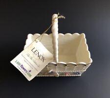 Lenox Fine Ivory China Basket w/ 24K Gold Embellishment Butterfly Flower Planter