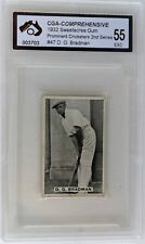 1932 Sweetacres Don Bradman Card Graded Excellent