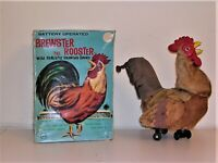 Brewster The Rooster MARX Battery Operated Toy In Original Box Crows Flaps Wings