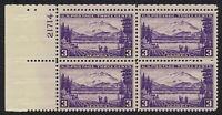 U.S. SCOTT 800 MNH 3 CENT PLATE BLOCK OF 4, 1937 ALASKA MNH OG