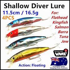 4X Minnow Shallow Dive Lure Casting Trolling Flathead Tailor Salmon Jew No.328