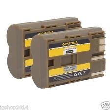 x2 batterie per canon BP-511 BP-511A EOS 10D 20D 300D 30D 40d 50d d60 Optura