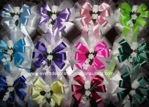ELEGANT Satin Ribbon Pew Bows for Weddings