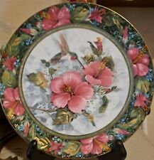 Franklin Mint Imperial Hummingbird Plate By Theresa Politowitz