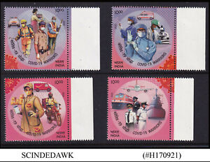 INDIA - 2020 SALUTE TO HEALTH WARRIORS OF PANDEMIC - 4V - MINT NH