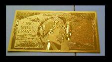 """★★ BILLET POLYMER """" OR """" DU 5000 FRANCS VICTOIRE ● DESTOCKAGE ★★ REF1"""
