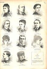 Paris sociétaire Comédie Française Sarah-Bernhardt, Worms & Favart GRAVURE 1879