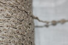 "2 yards $1 Tan FRENCH rosebud Natural Jute Linen Cotton sewing doll trim 1/4"""