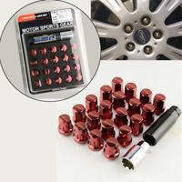 20PCS alloy steel Red wheel screws Anti-theft Nuts Screw  M12 x P1.5 GM SET