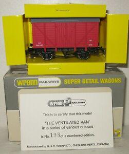 Wrenn Railways OO Gauge Numbered Edition The Pink Ventilated Van B881967