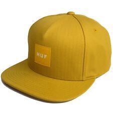 HUF Men's Duck Canvas Box Logo Snapback Cap Hat Honey NWT Limited Edition RARE