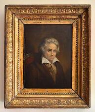 """DEHERAIN Herminie (1798-1839) """"Portrait de Ludwig Van Beethoven"""" Vienne Chopin"""
