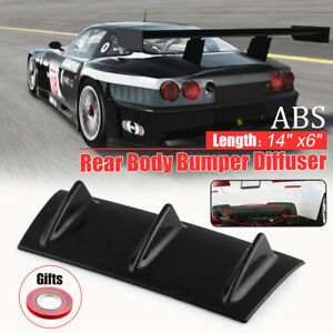 "14"" x6"" Universal Lower Rear Bumper Lip Diffuser Shark  Spoiler Kit 3  **/"