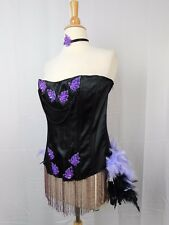 Starline Burlesque Showgirl Women's Sexy Saloon Corset Costume Black Large #5254
