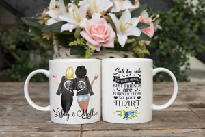 FREE POSTAGE BEST FRIEND PERSONALISED MUG CUP CHANGE HAIR CLOTHES FRIENDSHIP