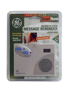 GE Magnetic Message Reminder Voice Recorder & Digital Clock New Smart Home NEW