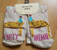 BNWT Accessorize Party Animal Socks. One Size. Cute Socks