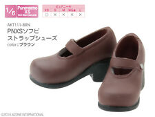 Azone Pureneemo PNXS Soft Vinyl Strap Shoes Brown Blythe Pullip Dal Obitsu