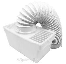 "BUSH Tumble Dryer Vented Condenser Box Kit + Vent Hose Pipe 4"" - Wall Mountable"