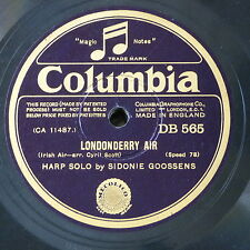 78rpm SIDONIE GOOSSENS londonderry air / whirlwind - harp solo