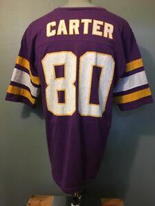 Vtg 1990s 90s Minnesota Vikings Carter T Shirt Mens XL Thin Soft Purple Jersey