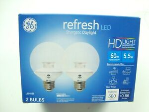GE Lighting LED Refresh HD 2 Pack 60W replacement LED G25