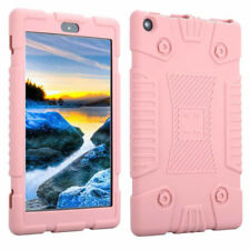 Shockproof Soft Silicone Case Cover for 7inch Amazon Kindle Fire 7 2017 Tablet Pink