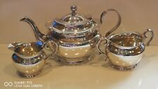 More details for 3pc antique silver plated tea set hallmarked w s a1 very good quality condition