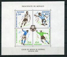 Monaco 1982 Blok 20 WK voetbal 1982 - Worldcup 1982 cat waarde  € 8