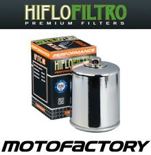 HIFLO RACING CHROME OIL FILTER FITS HARLEY DAVIDSON FXS BLACKLINE 2012-2013