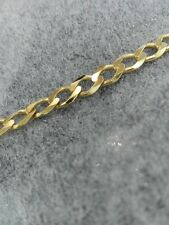 NEW 9kt 9ct yellow gold curb bracelet 5mm approx 6gr