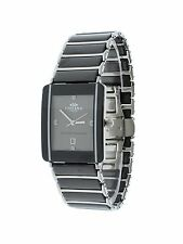 Oniss ON294-MGY/SBK Mens Watch Grey Dial Stainless Steel/Ceramic Case & Band