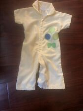 Vtg Jcpenny Toddletime Size 14.5-18lbs. Vtg Yellow Striped Balloon Zip Jumpsuit