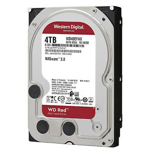 "Hard Disk Interno WESTERN DIGITAL RED 4 TB  WD40EFAX 3.5""  Sata III 6 Gb / s"
