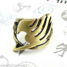 Anime Fairy tail Natsu Lucy Guild Finger Ring Bronze Alloy Cosplay Necklace Gift