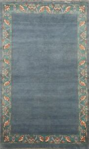 Contemporary Bordered Gabbeh Oriental Area Rug Handmade Wool 5x7 Modern Carpet