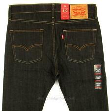 Levis 510 Jeans Skinny Fit Mens New Size 32 x 34 DARK BLUE STRETCH Levi's NWT