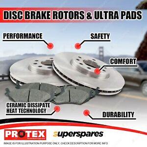 Protex Rear Brake Rotors + Ultra Pads for Volkswagen Polo PR 1KE 1994-2001