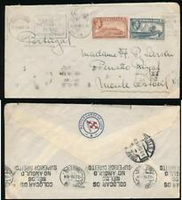 GIBRALTAR to PORTUGAL 1939 KG6 2d +1d MONTE ESTORIL ROTTERDAMSCHE LLOYD SHIP ENV