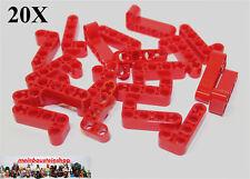 20X Lego® 32140 Technik dicke Liftarme Beams 2X4 Rot Red NEU